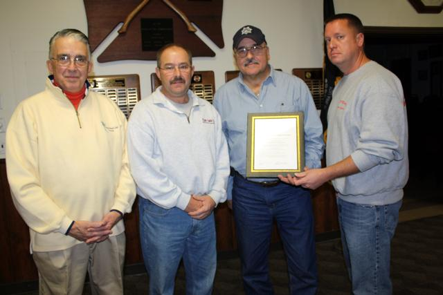 Vfw post presents pawling fire dept with certificate of appreciation chief dave denzel with members of the hasler kamp post 215 yelopaper Choice Image